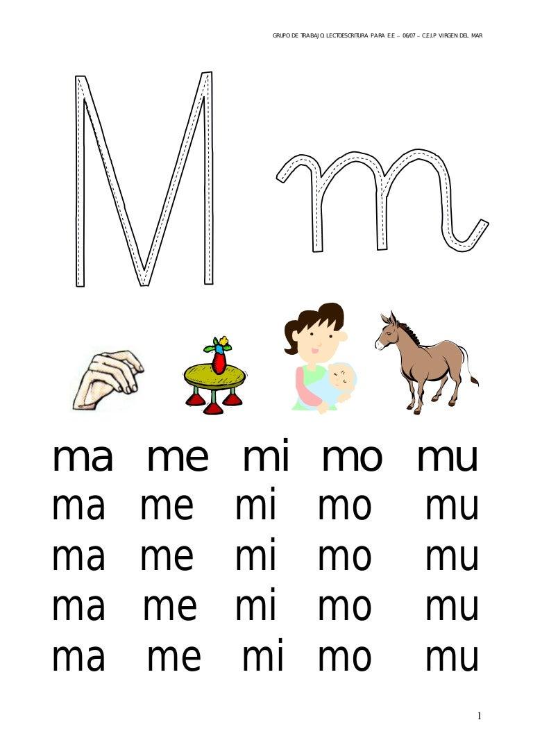 Letra m ma-me -mi-mo-mu-