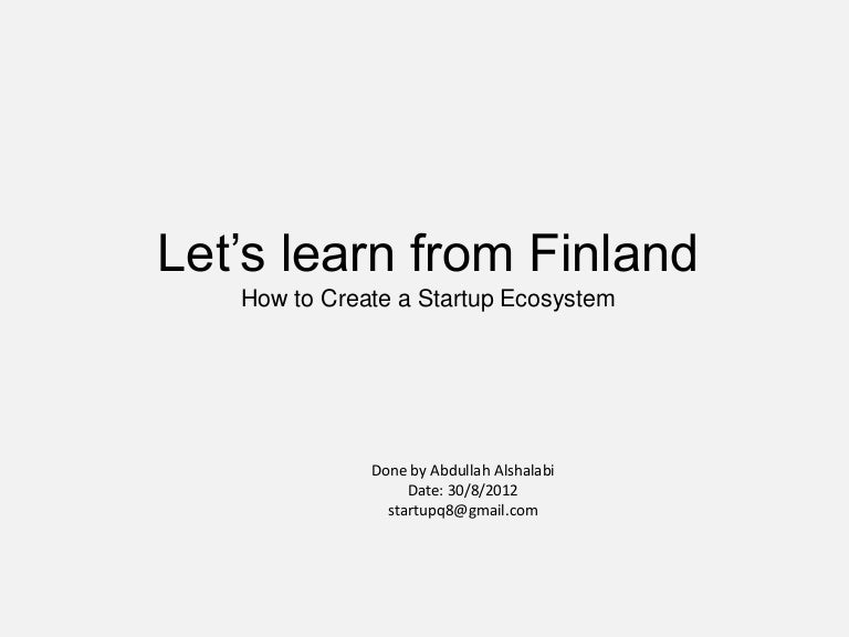Let's learn from Finland