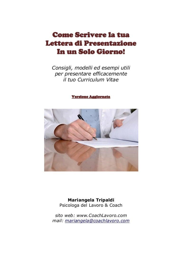 E Scrivere Una Lettera Di Presentazione