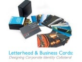 Letterhead Business Cards: Designing Corporate Identity Collateral