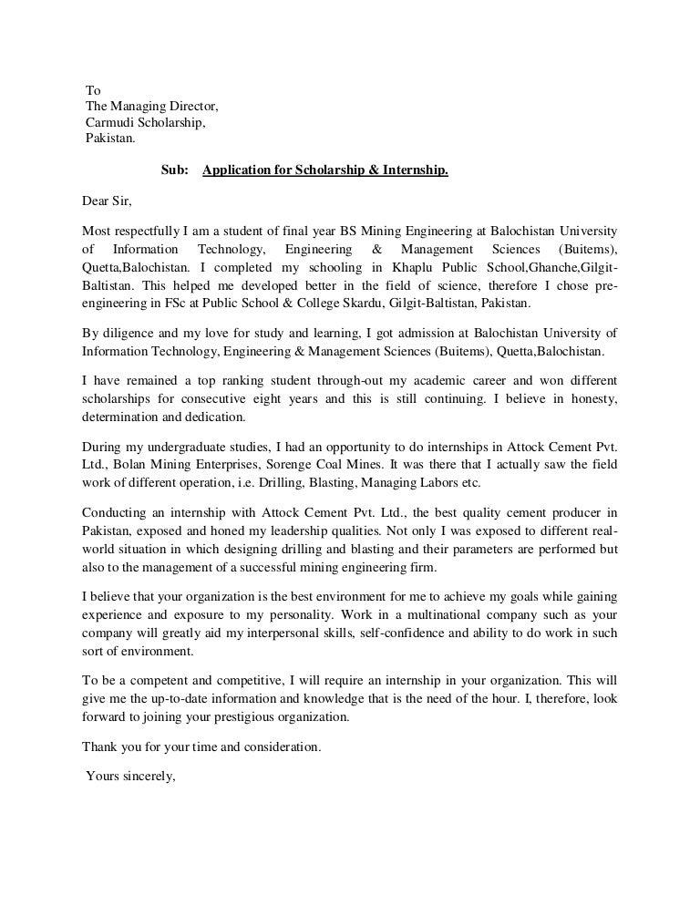 Letter Of Intent Visa Application