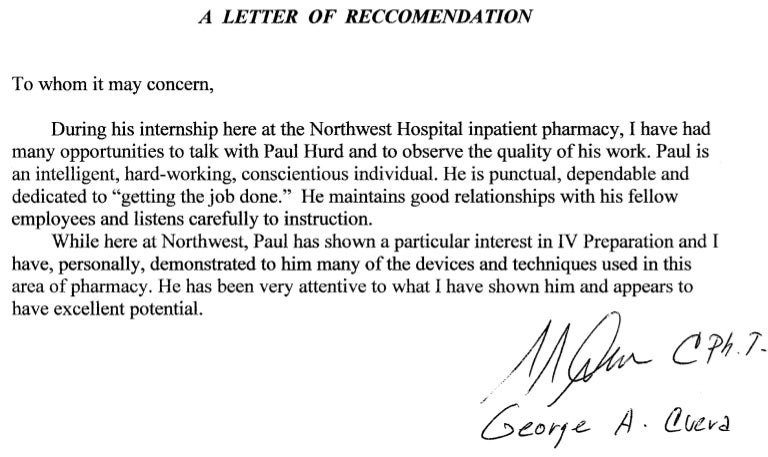 letter of recommendation for internship letter of recommendation 53670