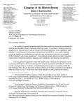 Letter to WV from Congressman Matt Cartwright Requesting Info on Frack Wastes