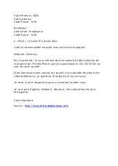 lettre de demission a l amiable Lettre de démission amiable   Modèle de lettre lettre de demission a l amiable