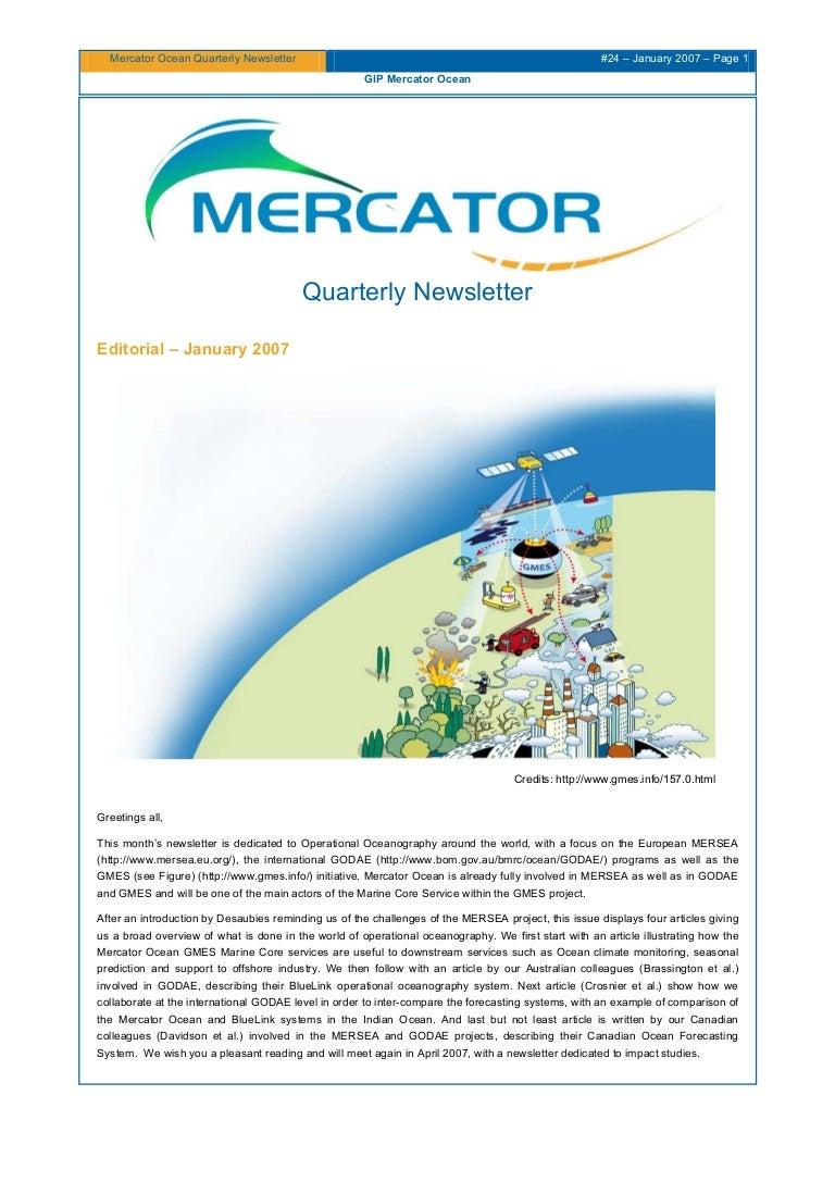 Mercator Ocean Newsletter 24
