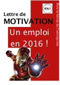 Lettre de motivation  –  2016