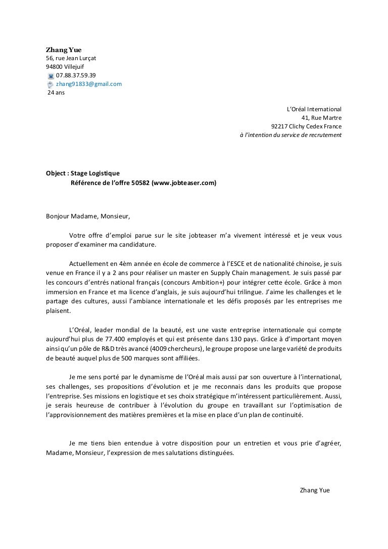 lettre de motivation stage 3eme informatique hl72