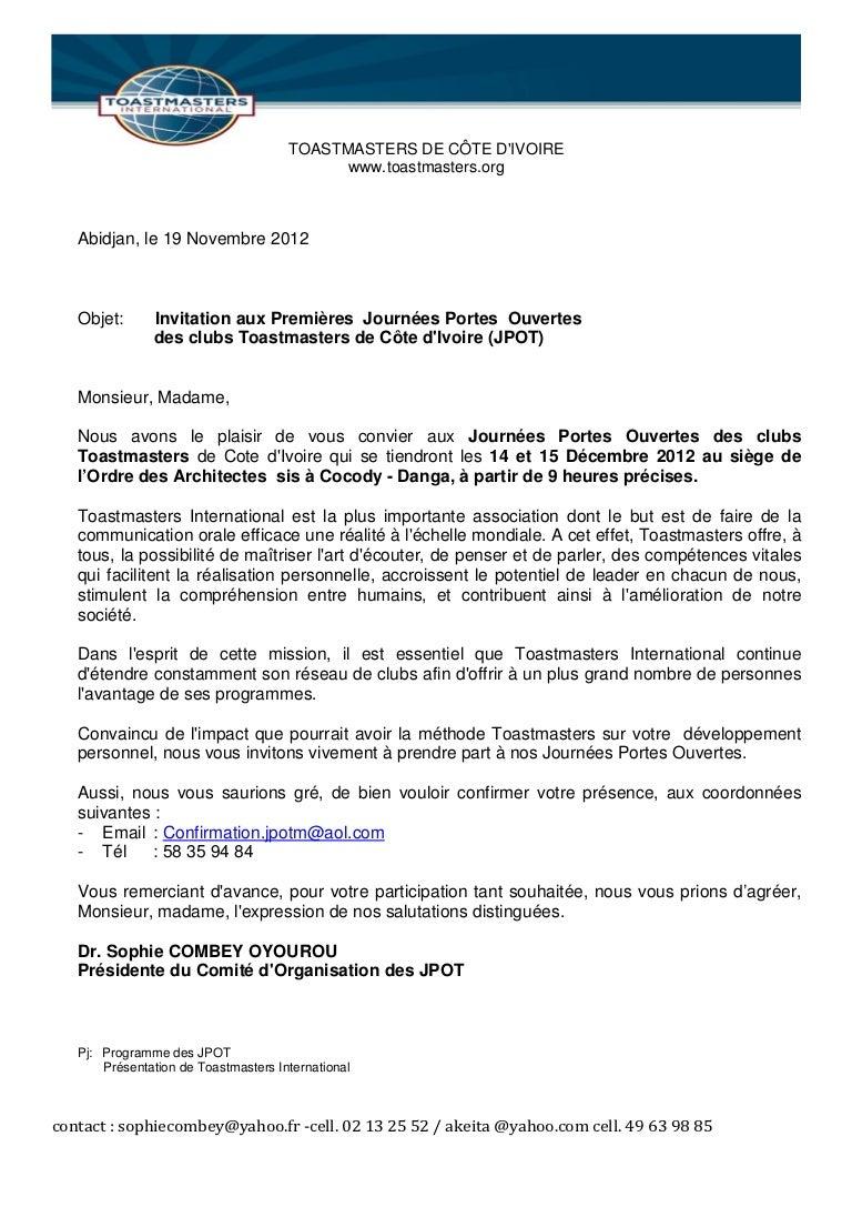 Ppt Modele Lettre Invitation Professionnelle