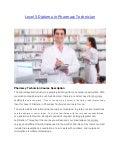 Level 3 diploma in pharmacy technician
