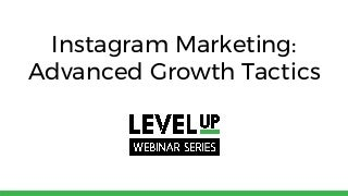 'instagram marketing' on SlideShare