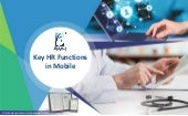 Leveraging mobile capabilities in your HR application