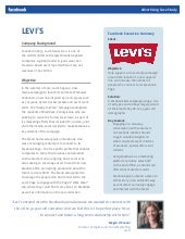 levi strauss case study executive summary Transcript of levi's case study  jeans were invented by levis strauss levi's and gwg merged lsc licensed gwg to jack spratt considering the fate of gwg.