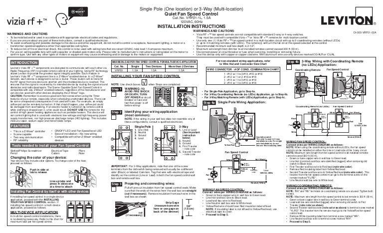 Incredible Leviton Vrf01 1 Lz Product Manual And Setup Guide Wiring Digital Resources Funiwoestevosnl