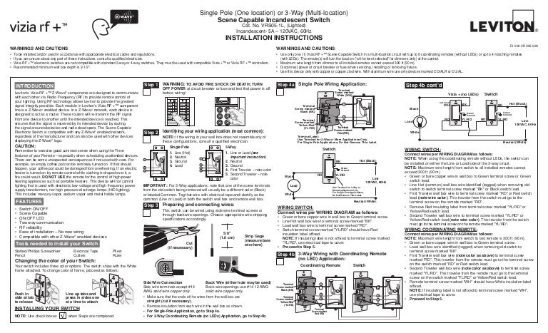 Leviton Vrs05 1 Lz Installation Manual And Setup Guide
