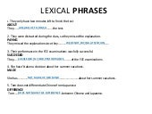 LEXICAL PHRASES VI