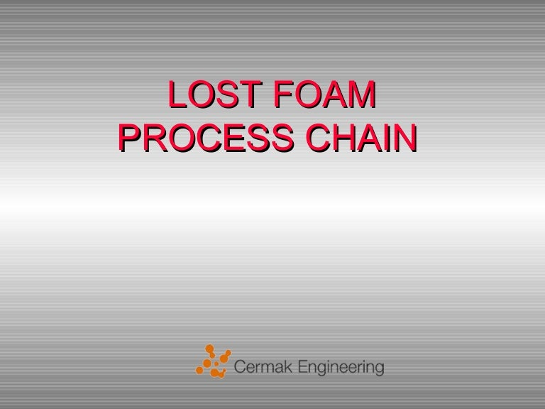 Lost foam casting ppt presentation