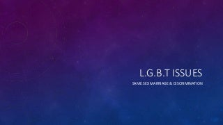 LGBT Issues