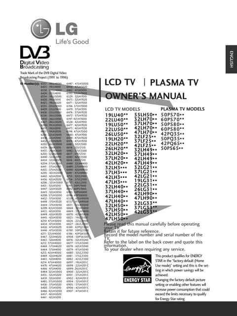 Manual de instruções tv lg led 42 lb5600