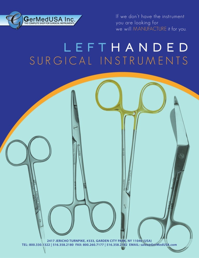 Left Hand Surgical Instruments from GermedUSA