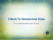 5 Back to Homeschool Ideas