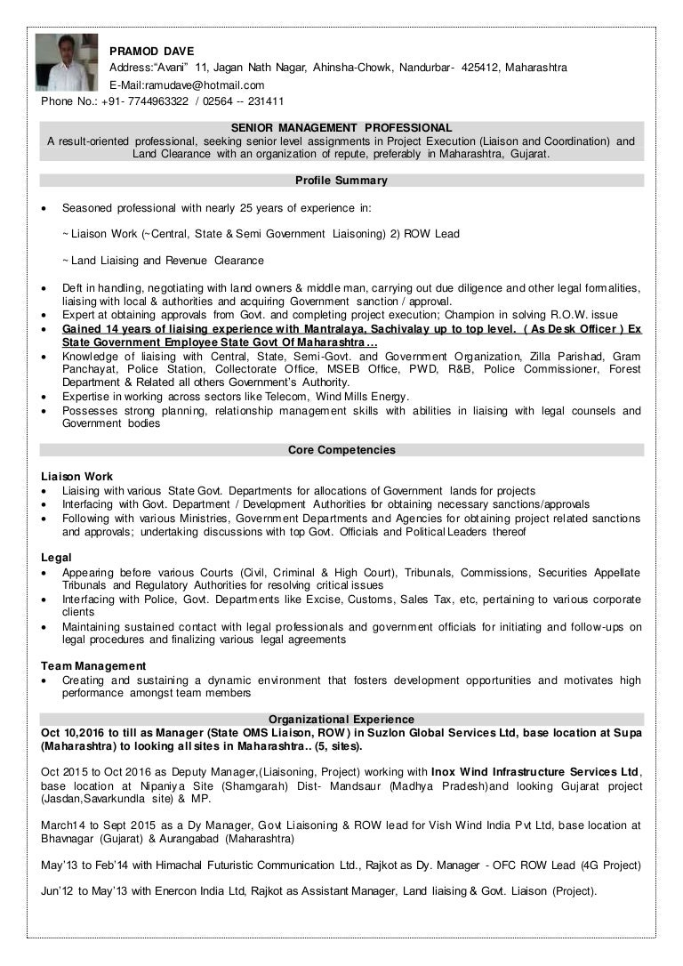 Manager, Central, State, Semi Govt Liaising, ROW