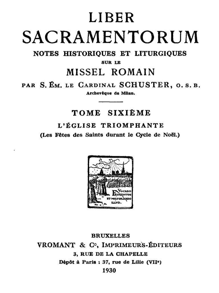Liber Sacramentorum  Tome 6