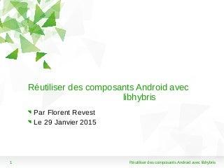 rutiliser des composants android avec libhybris