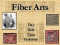 Library Instruction for Fiber Arts
