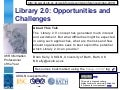 Library 2.0: Opportunities and Challenges