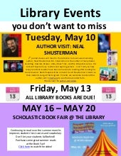 HCMS Library Events in May