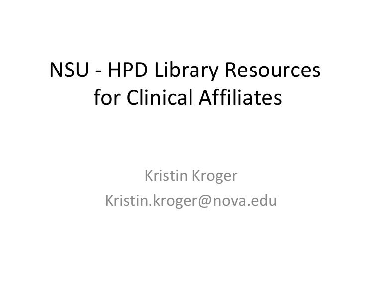 Library Resources For Clinical Faculty