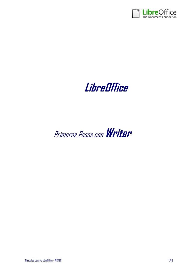 Libreoffice manual usuario writer