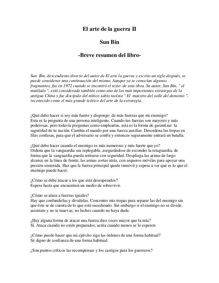 Libro ( Sun Tzu & Sun Bin) El Arte De La Guerra Libro Ii
