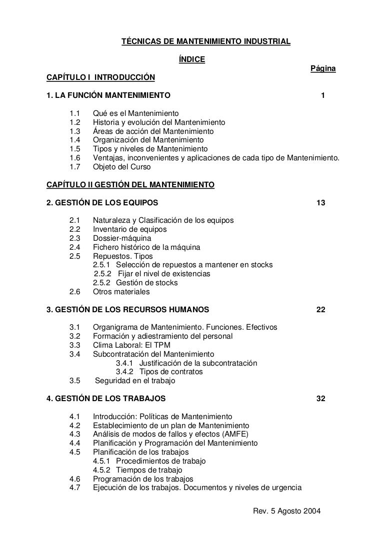 Libro de mantenimiento industrial.