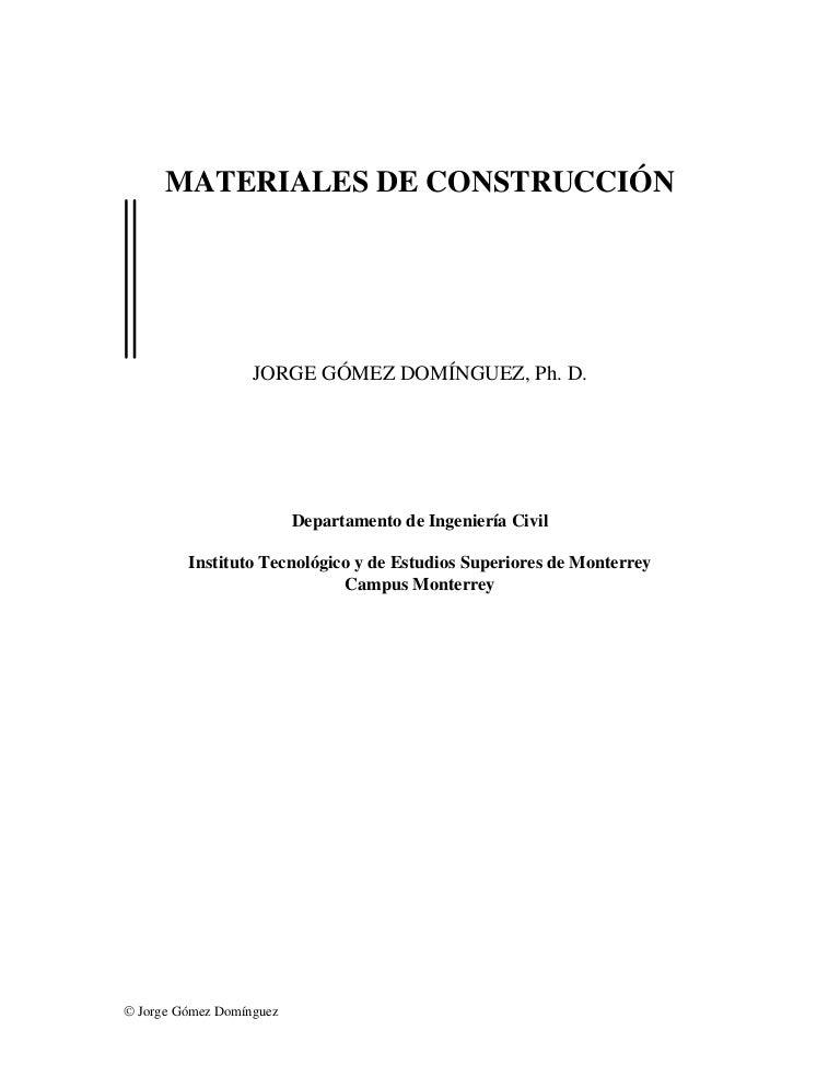 Libro De Materiales De Construcción 1
