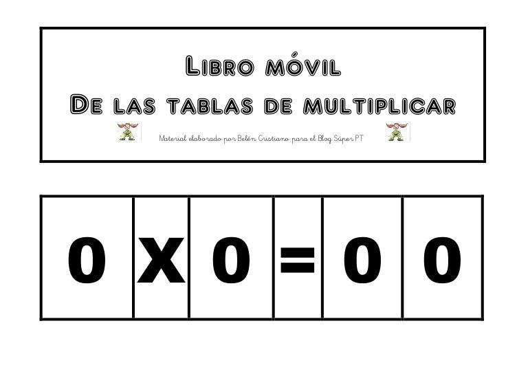 Libro Movil De Las Tablas De Multiplicar