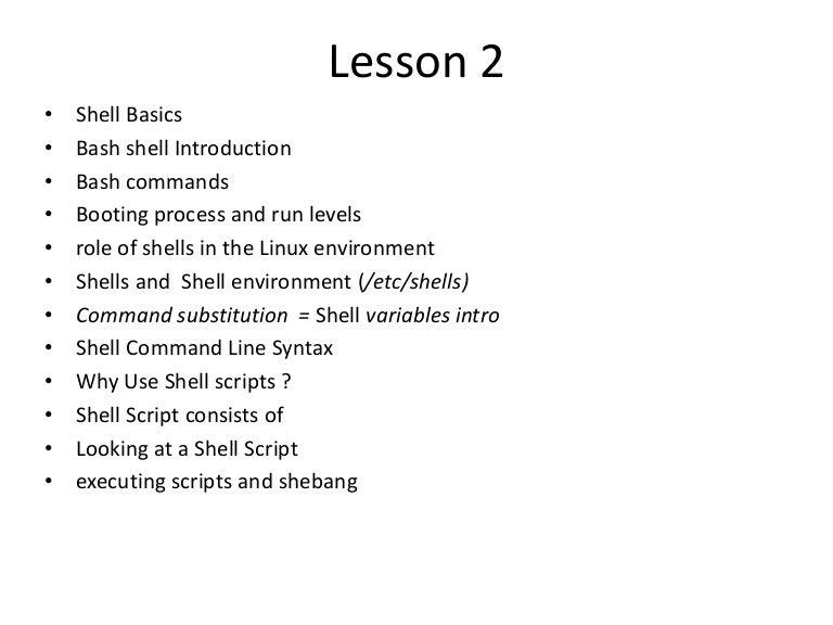 Licão 02 shell basics bash intro