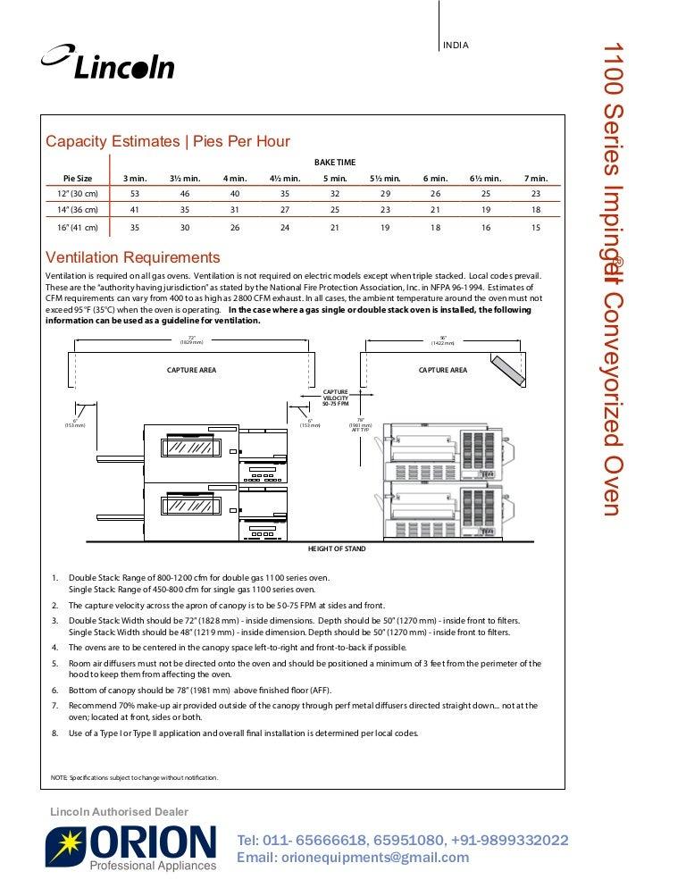 lincoln impinger pizza oven gas double stacked conveyor belt in rh slideshare net