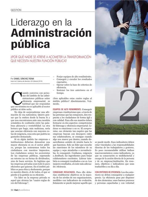 Liderazgo en la Administración Pública