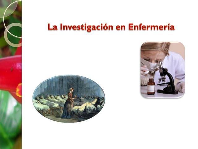 La Investigacion en Enfermeria