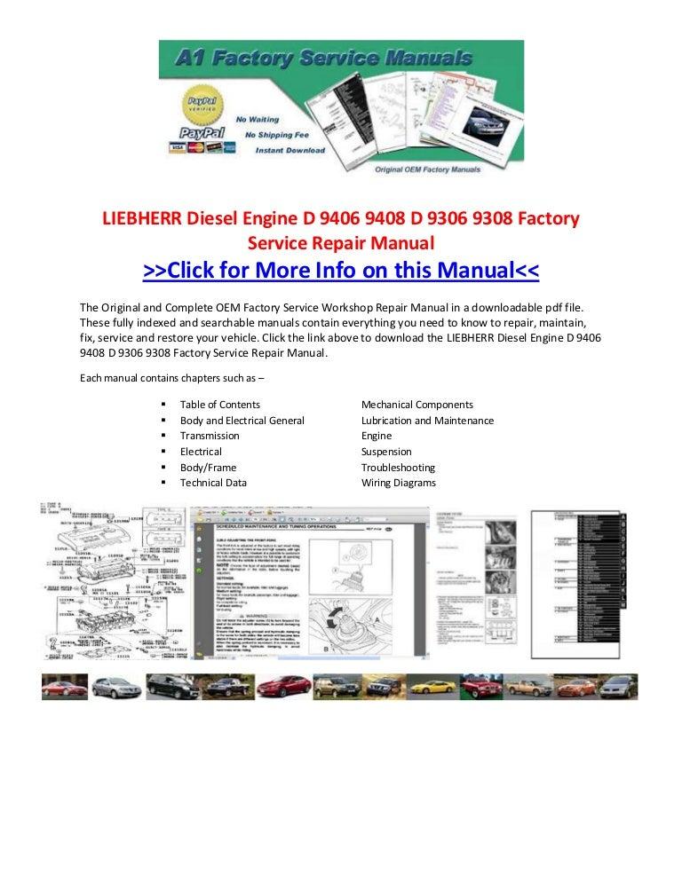 Liebherr Diesel Engine D 9406 9408 D 9306 9308 Factory