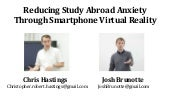 Reducing Study Abroad Anxiety Through Smartphone Virtual Reality