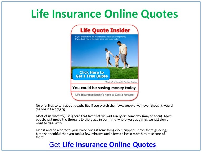Life Insurance Online Quotes New Online Quotes For Life Insurance
