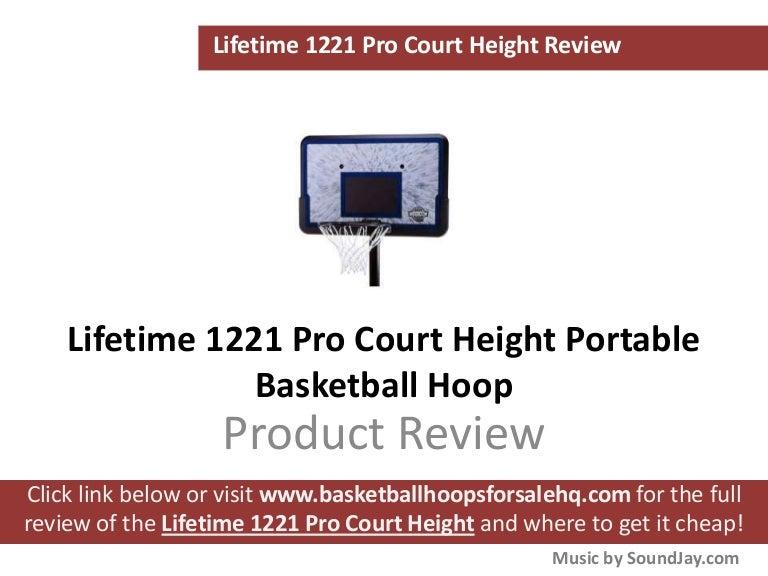 Lifetime 1221 Pro Court Portable Basketball Hoop
