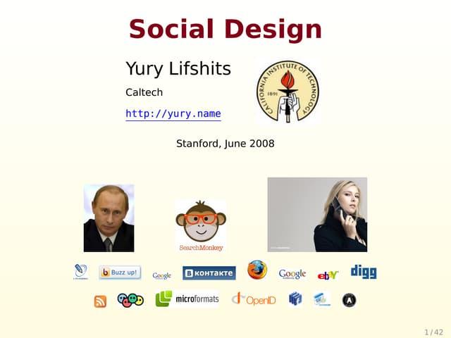 Social Design (Stanford version)