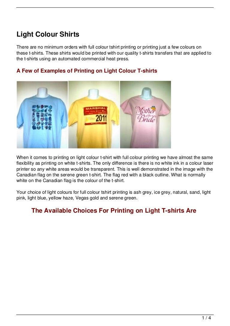 Light Colour Shirts