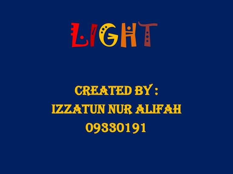 Light Ppt