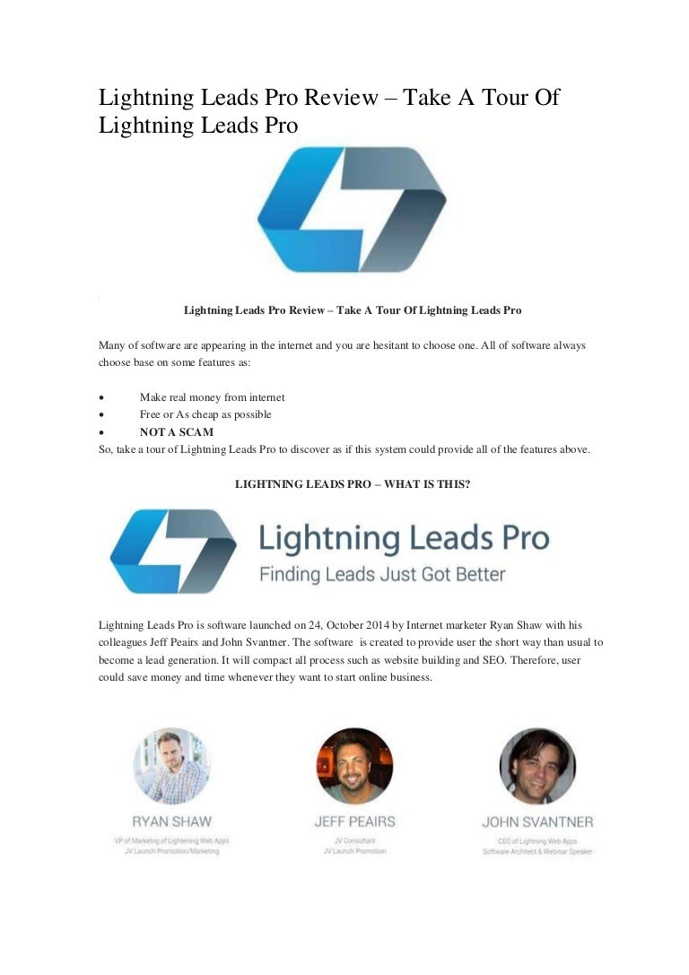 lightning leads pro review