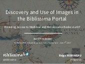 Discovery and Use of Images in the Biblissima Portal: Providing Access to Medieval and Renaissance Books via IIIF