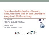 Towards embedded Markup of Learning Resources on the Web